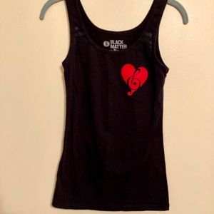 HEART~MUSIC CLEF TANK ♥️ 🎶 size S